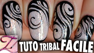 getlinkyoutube.com-Tuto nail art zèbre tribal pour débutants
