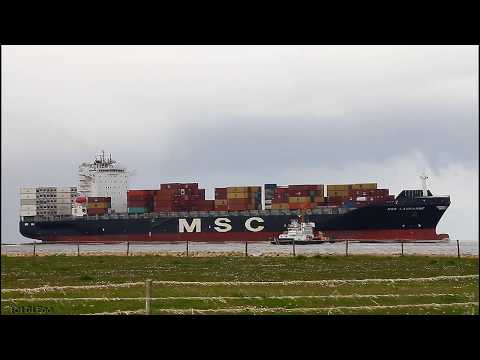 Click to view video MSC LAUSANNE - IMO 9320398 - Germany - Elbe - Otterndorf