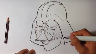 getlinkyoutube.com-Drawing Darth Vader from Star Wars - Easy Pictures to Draw