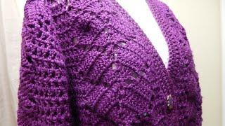 getlinkyoutube.com-Suéter como tejer la Espalda Crochet