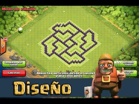 Diseño Aldea Farming  Ayuntamiento 7  Clash Of Clans