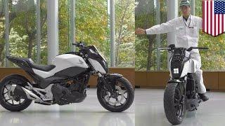 getlinkyoutube.com-Future motorcycles: Honda self-balancing Riding Assist tech keeps bike balanced - TomoNews