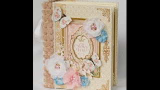 getlinkyoutube.com-Graphic 45 Gilded Lily Mini Scrapbook Photo Album