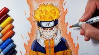 getlinkyoutube.com-Drawing Naruto Uzumaki - Jinchūriki Phase One