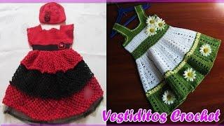 getlinkyoutube.com-Vestidos Para Bebe Niña Con Patrones - Tejidos a Crochet Parte #2