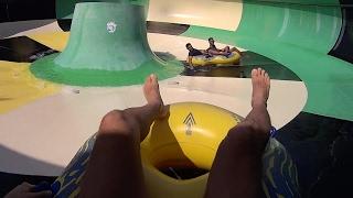 getlinkyoutube.com-Toilet Hurricane Water Slide at Wet World Water Park