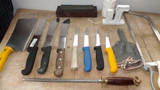 getlinkyoutube.com-How To Sharpen A Butchers Knife.Butchers Tools Of The trade.TheScottReaProject.