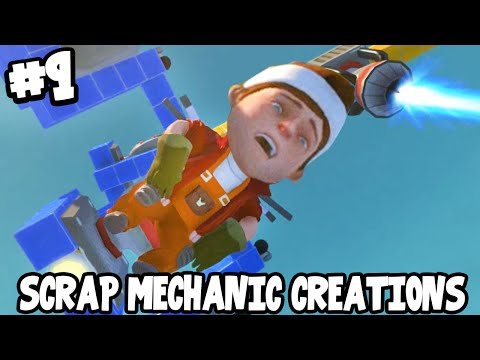 Scrap Mechanic CREATIONS! - CRAZY THEME PARK RIDES! [#9] W/AshDubh | Gameplay |