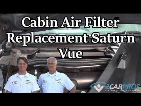 Cabin Air Filter Replacement Saturn Vue 2002-2007