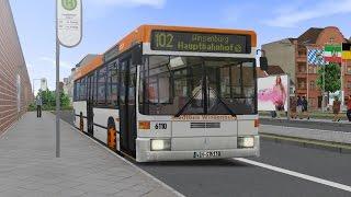 getlinkyoutube.com-OMSI 2. Map Winsenburg, Route 102, Mercedes-Benz O405N2