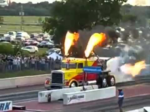 Caminhão com turbina de F14!