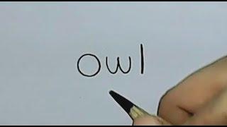 getlinkyoutube.com-How to turn Words Owl Into a Cartoon Owl. (Wordtoons)