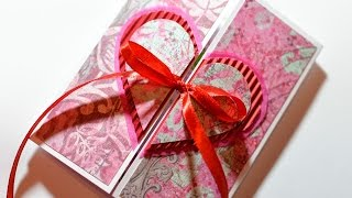 getlinkyoutube.com-How to Make - Valentine's Day Card Heart Embossing - Step by Step | Kartka Na Walentynki Serce