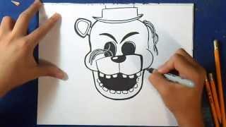 getlinkyoutube.com-Como desenhar o Golden Freddy - Five Nights at Freddy´s