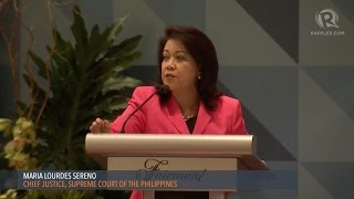 APEC 2015: 'Don't regret family time' – Chief Justice Sereno to women