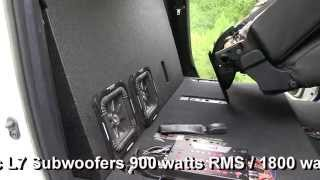 getlinkyoutube.com-2014 2015 Toyota Tundra CrewMax Ported Subwoofer Box Dual Kicker Solobaric L7