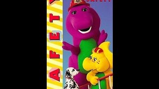 Opening & Closing To Barney Safety 1995 VHS