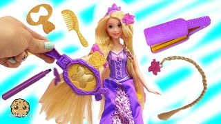 getlinkyoutube.com-Disney Princess Rapunzel Draw N Style with Hair Color Markers at Barbie Fairytale Salon