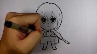 getlinkyoutube.com-มิคาสะ จาก การ์ตูน ผ่าพิภพไททัน attack on titan วาดการ์ตูน กันเถอะ สอนวาดรูป การ์ตูน