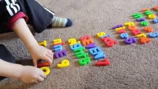 Spelling numbers 1-10  (pt 1/2)