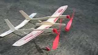 getlinkyoutube.com-twin engine rubber band powered airplane