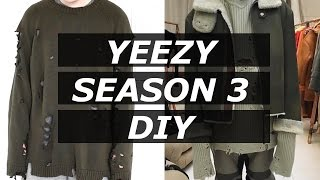 getlinkyoutube.com-YEEZY SEASON 3 DISTRESSED SWEATER | HOW TO | DIY | AFFORDABLE ALTERNATIVE | Gallucks
