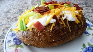 getlinkyoutube.com-Perfect Baked Potato stuffed with Cheese and Bacon!