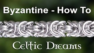 getlinkyoutube.com-How To Make Byzantine Chain Mail Bracelet or Necklace - Best Tutorial in 1080 HD Macro