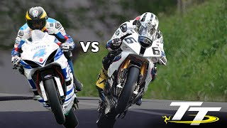 getlinkyoutube.com-GUY MARTIN vs MICHAEL DUNLOP @ 200mph! PURE ADRENALINE! On Bike POV Lap! Isle of Man TT RACES