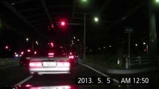 getlinkyoutube.com-【警察】赤灯を出しているY31セド覆面をぶち抜いて検挙される異常な車