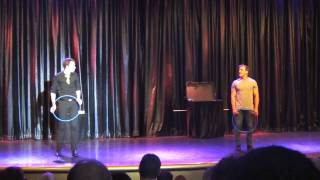 getlinkyoutube.com-Juggling comedian on the Sea Princess - the Audience participation made this guy funny