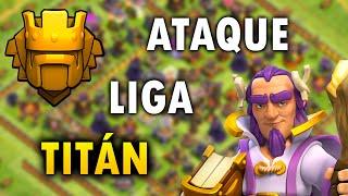 getlinkyoutube.com-ATAQUE CON EL NUEVO HÉROE NIVEL 10 EN LIGA TITAN!! Clash of Clans