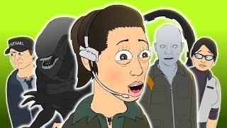 getlinkyoutube.com-♪ ALIEN ISOLATION THE MUSICAL - Animated Music Video Parody