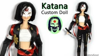 getlinkyoutube.com-Katana ( Suicide Squad ) Barbie / Doll  Repaint Tutorial