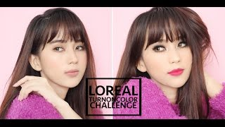 getlinkyoutube.com-LOREAL TURN ON COLOR CHALLENGE ( UNBOXING , TUTORIAL , GIVEAWAY )