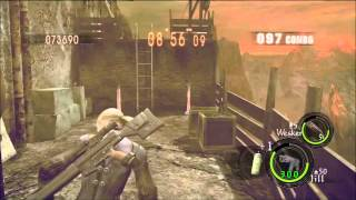 getlinkyoutube.com-[360] Prison 1,014,909 Duo Jill (Battle suit) & Wesker (STARS) [Resident Evil 5 - The Mercenaries]