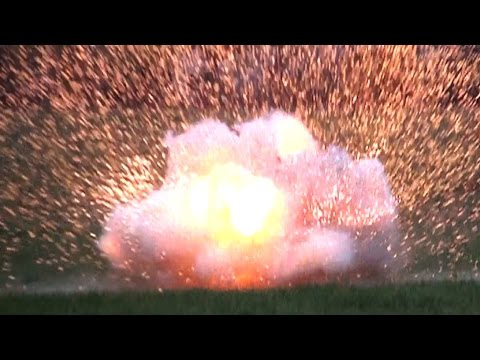 EXPLOSIONS in slow motion