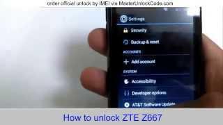 getlinkyoutube.com-How to Unlock ZTE Z667