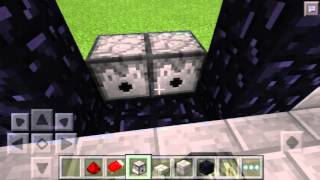 getlinkyoutube.com-สอนวิธีทำประตูนรกเปิดปิดได้   Minecraft   Pocket Edition  0.15.0