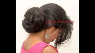 Indian Rapunzel, Many Big Buns in One Knee Length Hair