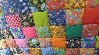 """getlinkyoutube.com-Лоскутное одеяло """"Случайный цвет"""" за 30 минут! Мастер-класс """"Мир лоскутов.ру"""""""
