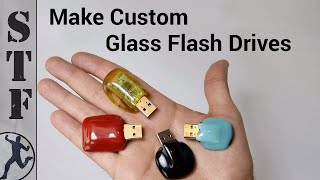 getlinkyoutube.com-Diy: USB Glass Flash Drive | Microwave Kiln #3