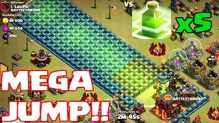 getlinkyoutube.com-Clash Of Clans - MEGA JUMP!!! ( w/ 5 jump spells part 2)