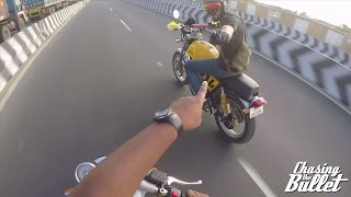 getlinkyoutube.com-GoPro - Modified Royal Enfield Continental GT in Traffic in India