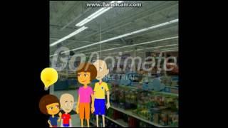 getlinkyoutube.com-Caillou Dora and their kids go to Toys R Us