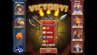 getlinkyoutube.com-Castle Clash Insane Dungeon 5-10 three flamed with f2p heroes