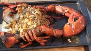 getlinkyoutube.com-Stuffed Lobster recipe by the BBQ Pit Boys