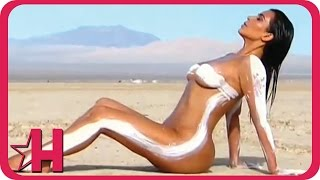 getlinkyoutube.com-Kim Kardashian Wears Body Paint in Photo Shoot on 'KUWTK' | Hollyscoop News