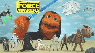 getlinkyoutube.com-Star Wars: Episode VIII - The Force Awakens Review for kids by Fuzzy Puppet Toy review (Fan-Made)