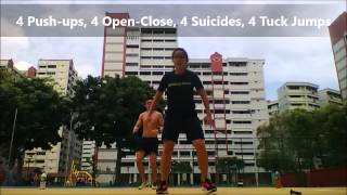10 7 5 Fitness Workout  (5 minutes Cardio Workout; Intense)